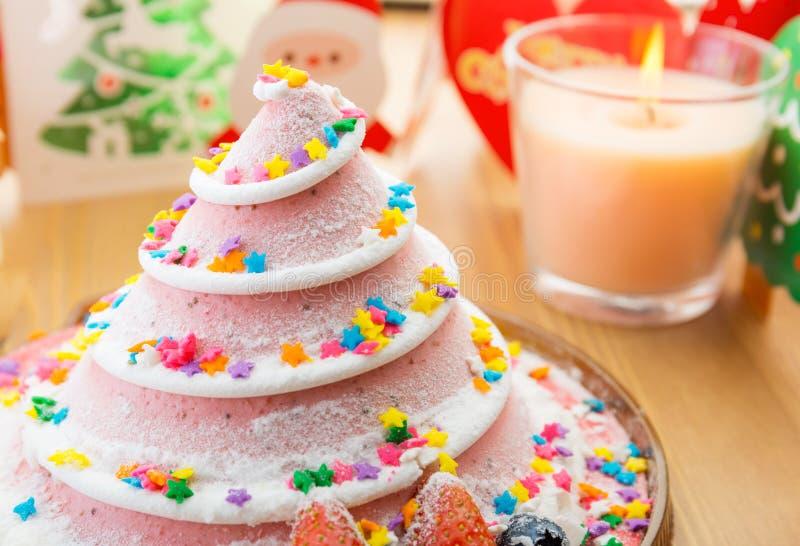 Torta de la Navidad para el partido fotos de archivo