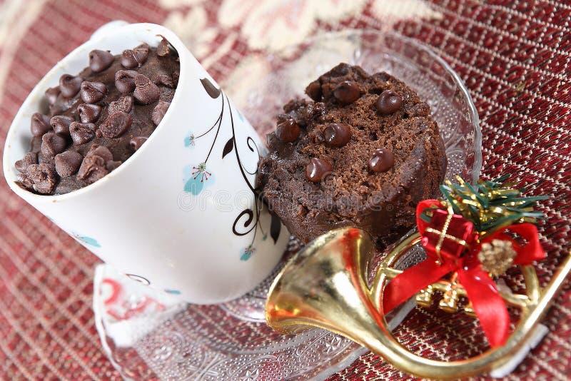 Torta de la taza del té, torta de chocolate, chocolate Eni Rotti imagen de archivo libre de regalías