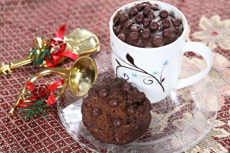 Torta de la taza del té, torta de chocolate, chocolate Eni Rotti fotos de archivo libres de regalías