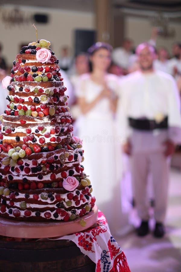 Torta de las frutas del bosque imagen de archivo