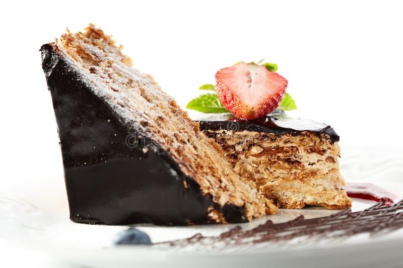 Torta de las nueces del chocolate foto de archivo