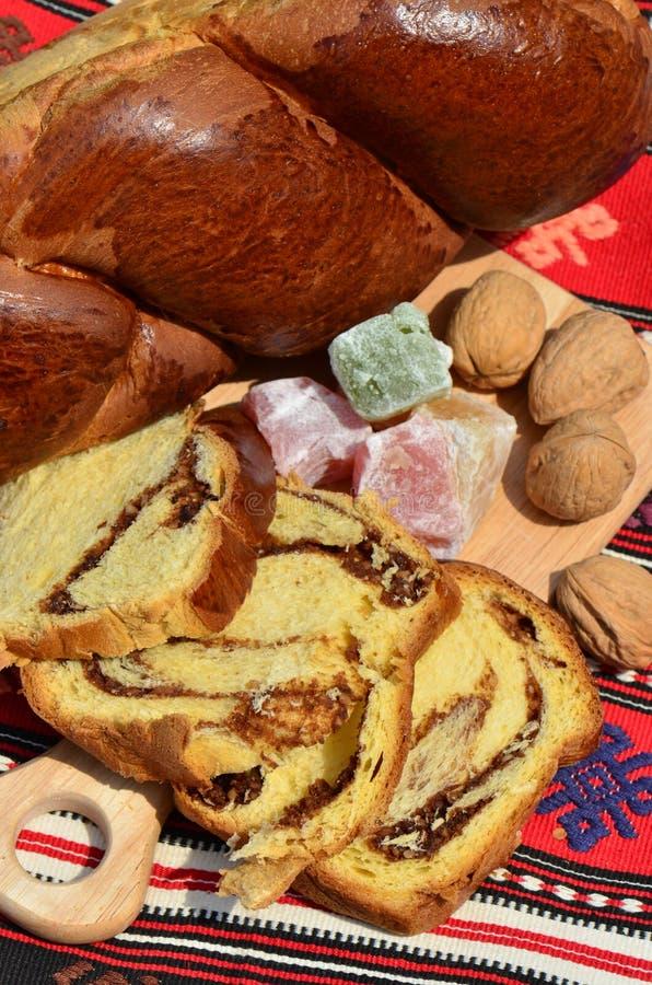 Torta de libra de relleno Nuts para Pascua o la Navidad foto de archivo libre de regalías