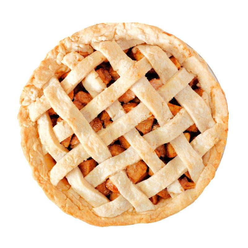 Torta de maçã caseiro isolada no branco imagens de stock