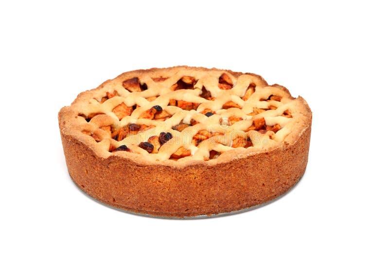 Torta de maçã cozida HOME fotografia de stock royalty free
