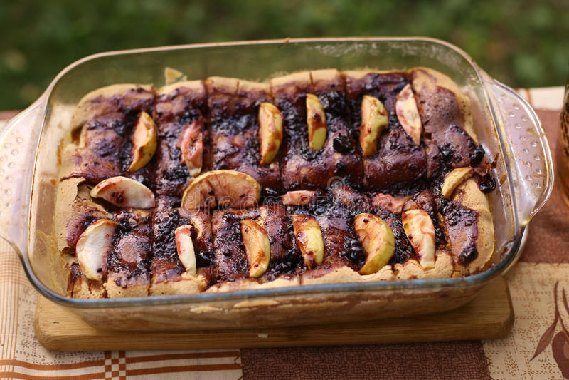 Torta de maçã do retângulo imagens de stock royalty free
