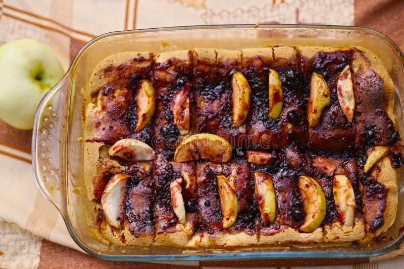 Torta de maçã do retângulo imagem de stock royalty free