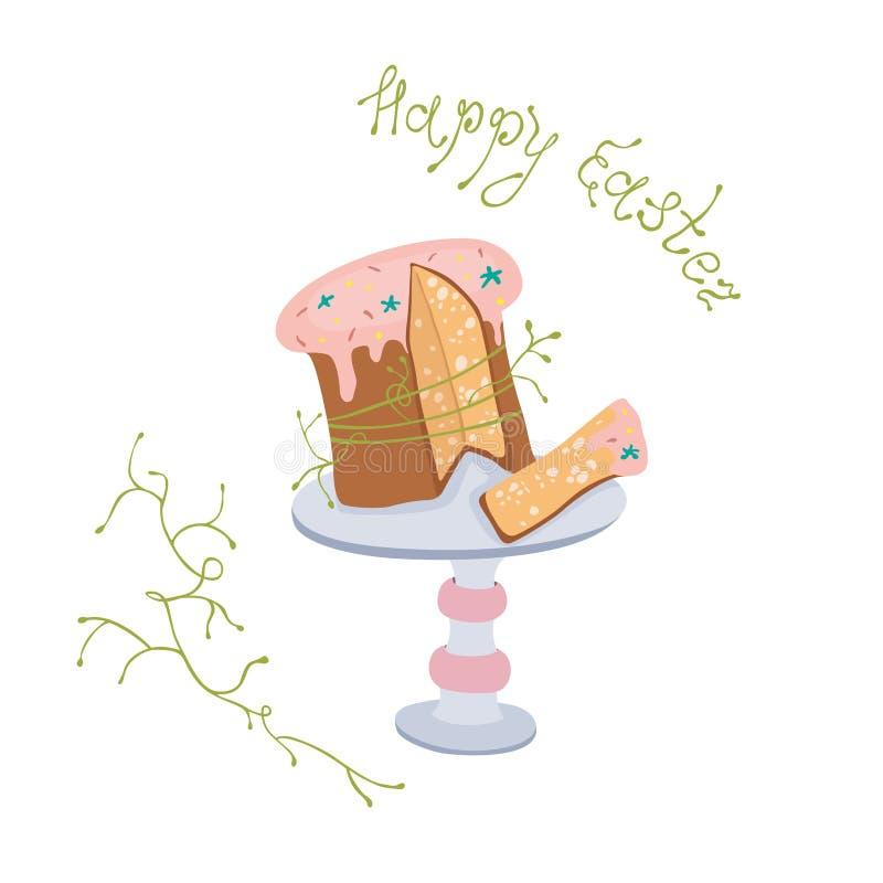 Torta de Pascua con el esmalte en el soporte libre illustration