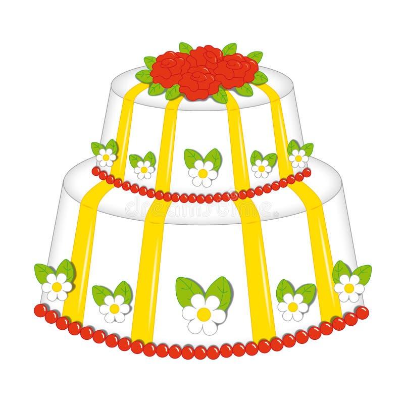Torta de rosas imagenes de archivo