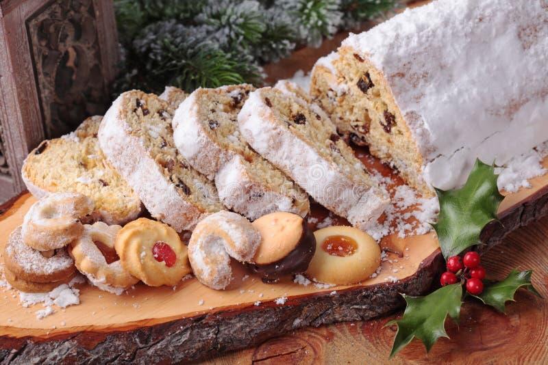 Torta de Stollen foto de archivo libre de regalías