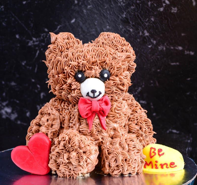 Torta de Teddy Bear foto de archivo libre de regalías