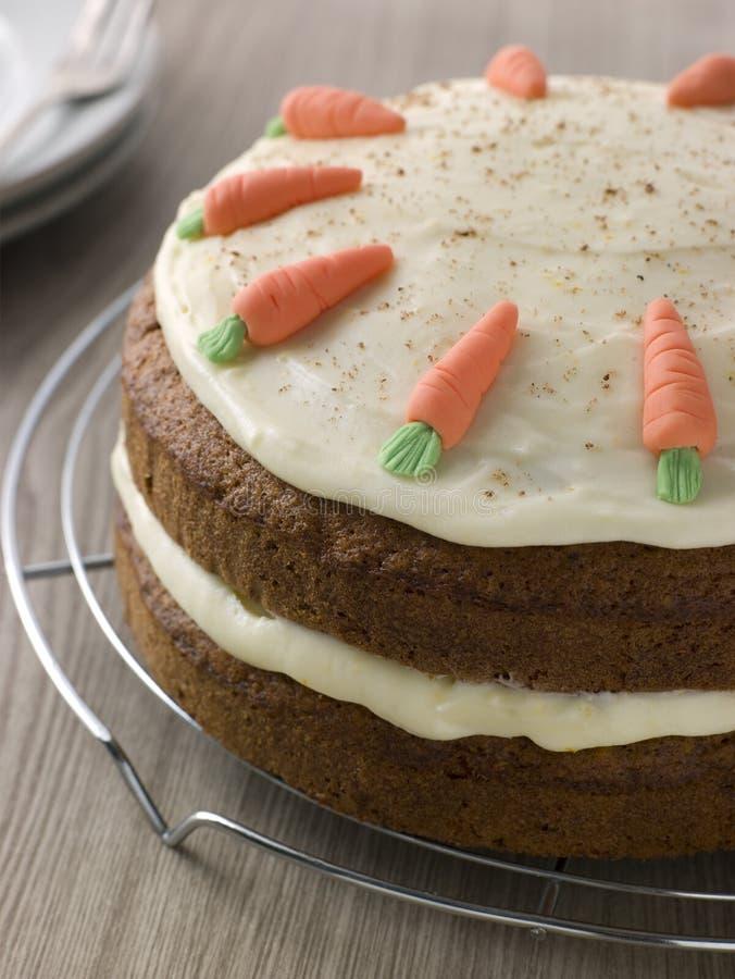 Torta de zanahoria americana en el estante de enfriamiento de A imagen de archivo libre de regalías