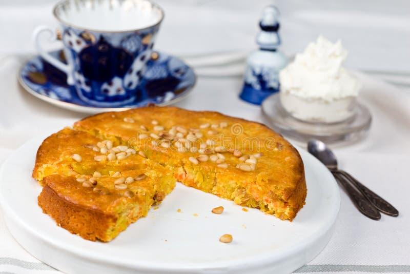Torta de zanahoria veneciana fotografía de archivo