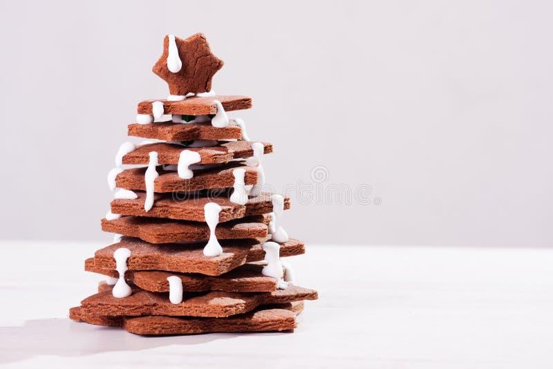 Torta del árbol de navidad foto de archivo