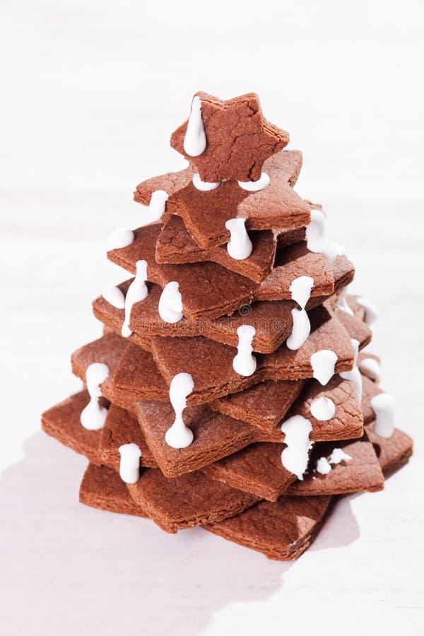 Torta del árbol de navidad foto de archivo libre de regalías