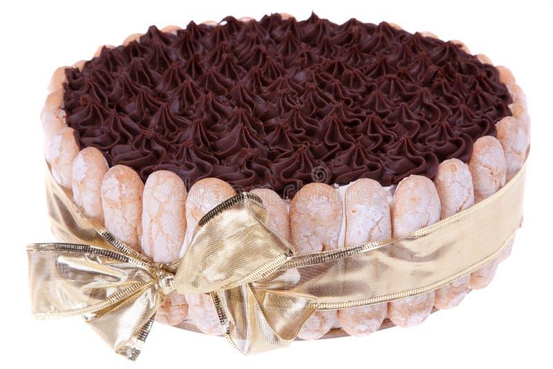 Torta del biscotto del cioccolato fotografie stock libere da diritti