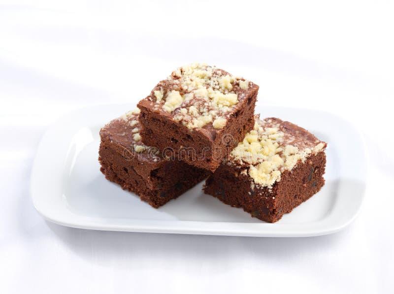 Torta del brownie fotografia stock libera da diritti