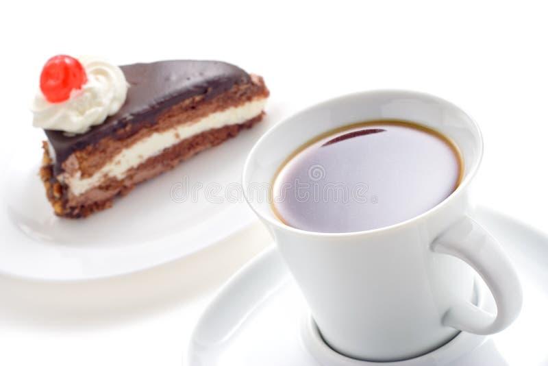 Torta del café y de chocolate imágenes de archivo libres de regalías