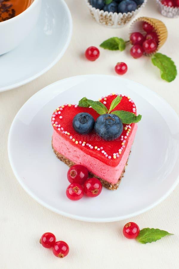 Torta del día de San Valentín fotografía de archivo libre de regalías