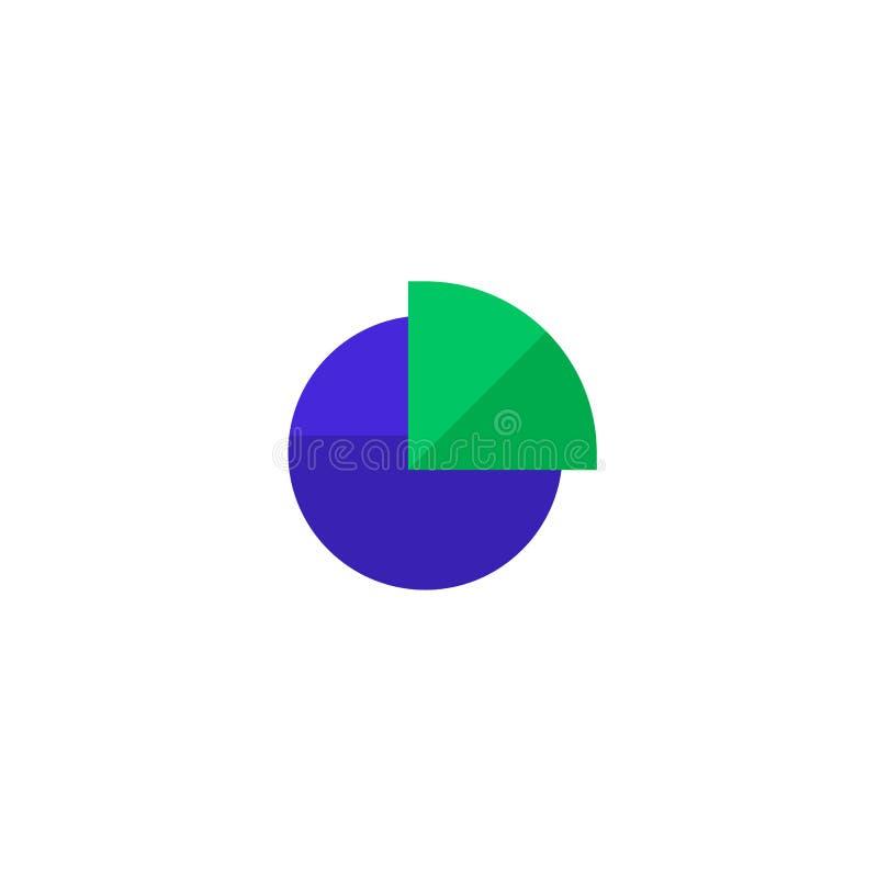 Torta del grafico con progettazione quarta dell'icona della fetta progettazione professionale pulita semplice dell'illustrazione  royalty illustrazione gratis
