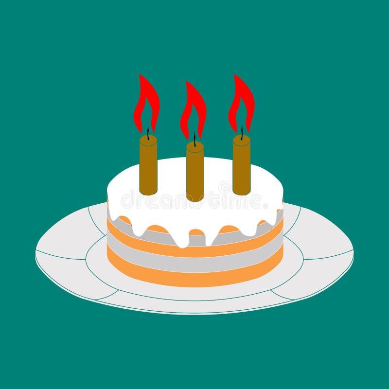 Torta del icono, imagen de la celebración del icono, día de fiesta stock de ilustración