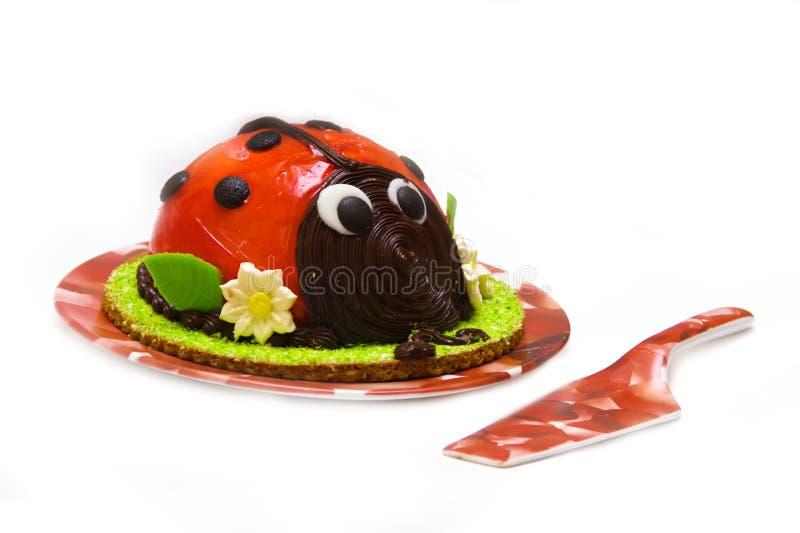 Torta del Ladybug fotografía de archivo