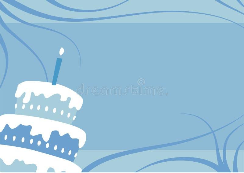 Torta del ragazzo di compleanno illustrazione vettoriale