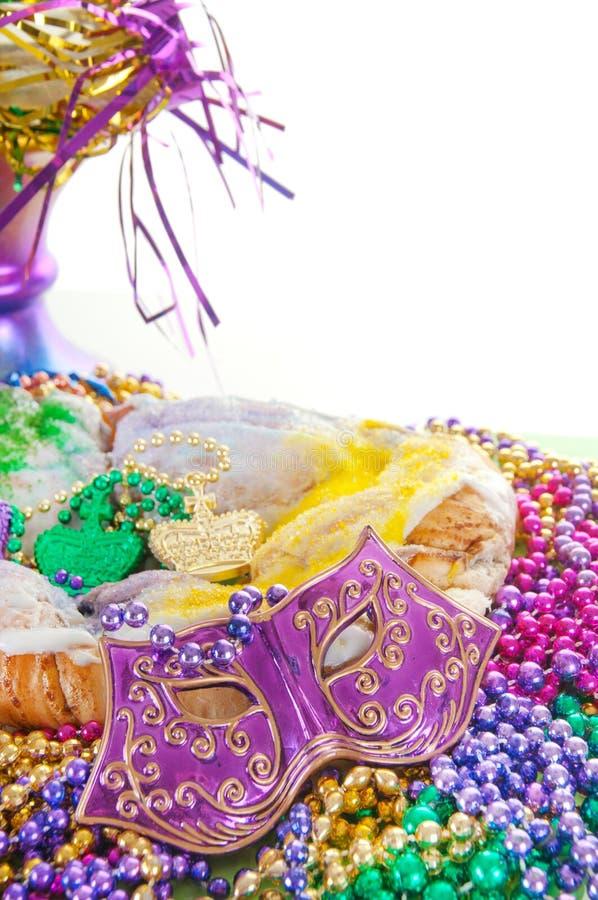 Torta del re di gras di Mardi immagini stock