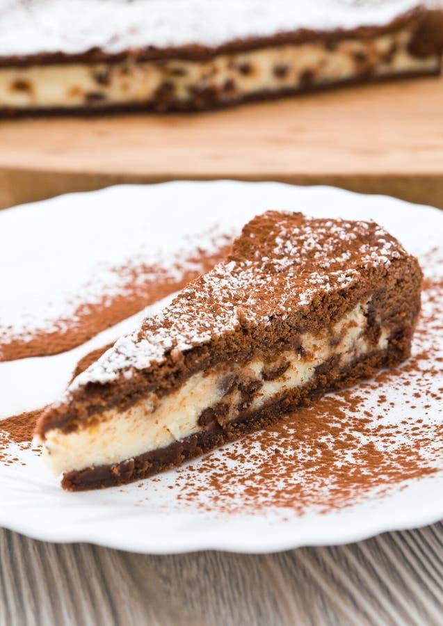 Torta del ricotta del chocolate. imágenes de archivo libres de regalías