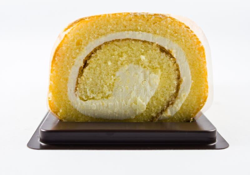 Torta del rullo per il dessert. fotografia stock