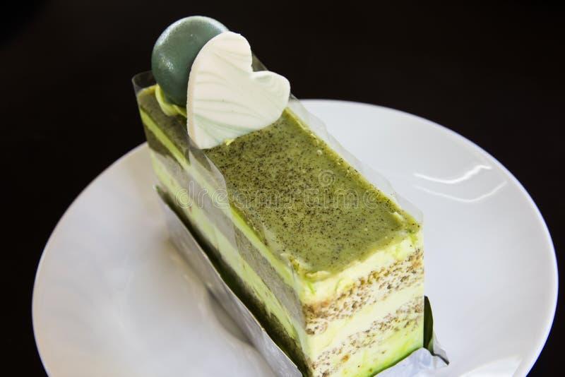 Torta del tè verde immagine stock libera da diritti