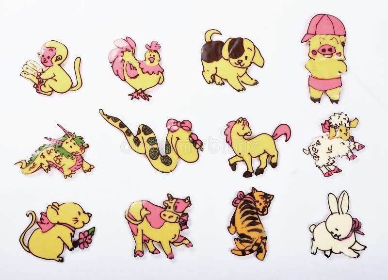 Torta del zodiaco de 12 chinos fotografía de archivo libre de regalías
