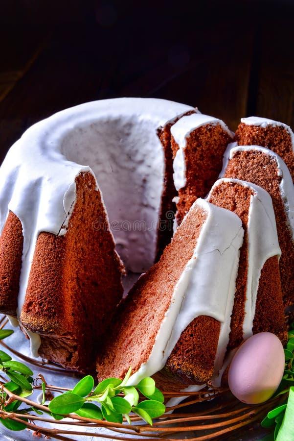 Torta deliciosa de la primavera del chocolate fotografía de archivo