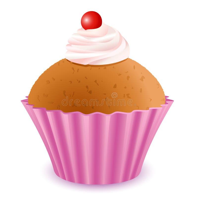 Torta deliciosa de la taza stock de ilustración