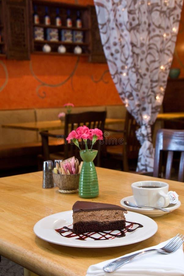 Torta della mousse del mocha del cioccolato fotografie stock libere da diritti