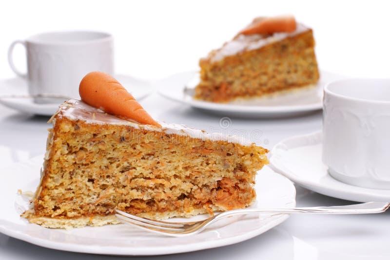 Torta di carota immagine stock