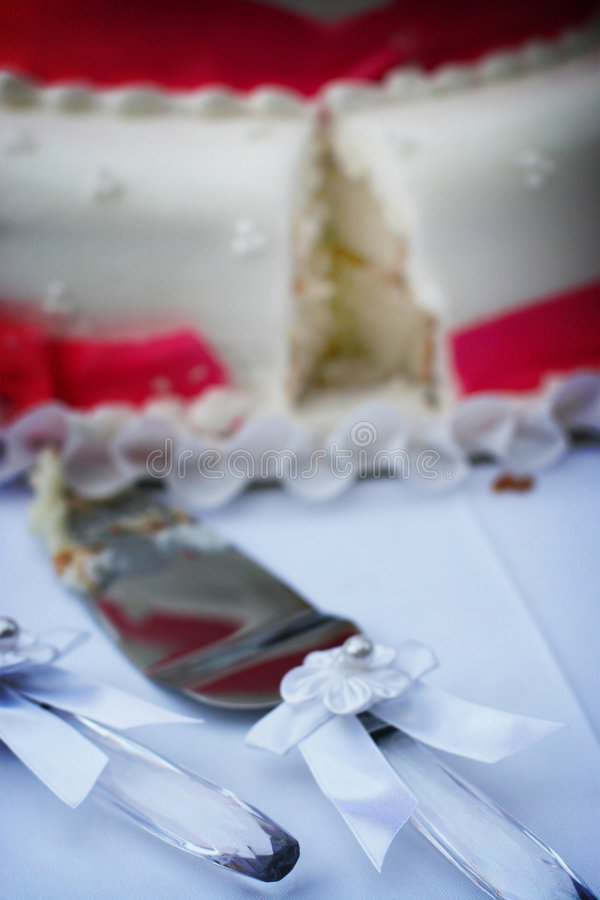 Torta di cerimonia nuziale fotografia stock libera da diritti