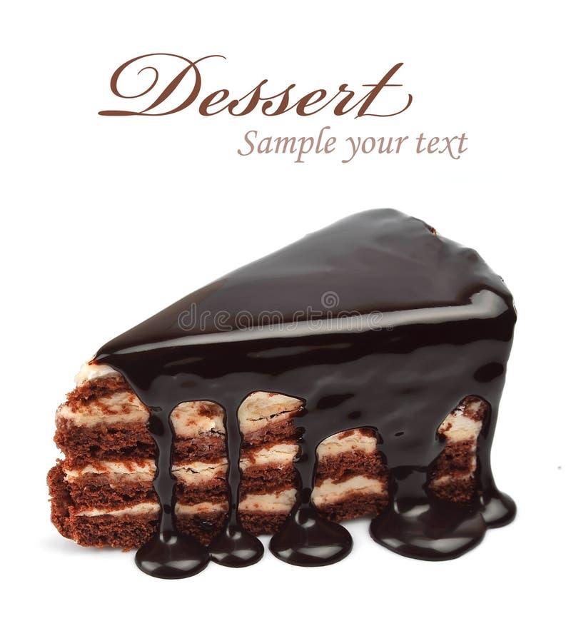 Torta di cioccolato immagine stock