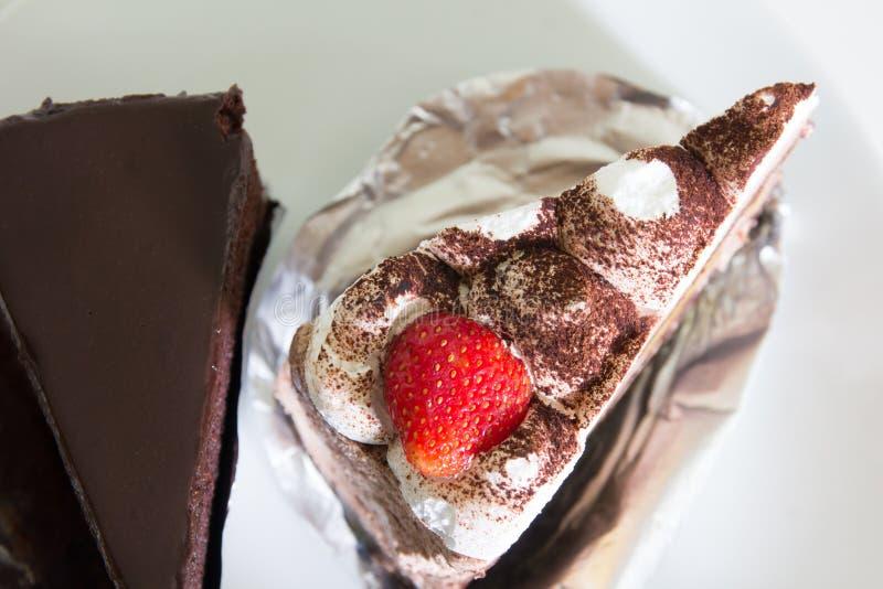 Torta di cioccolato casalinga fotografie stock libere da diritti