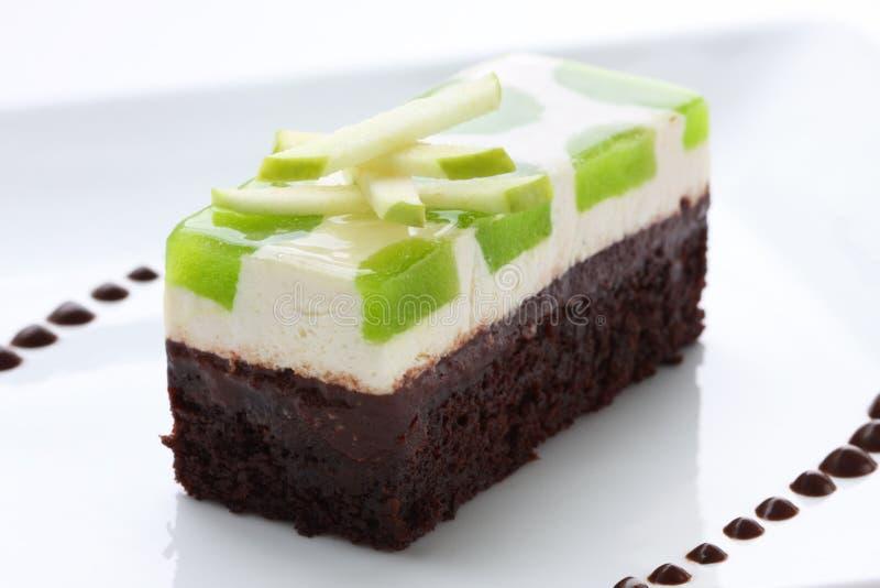 Torta di cioccolato gastronomica del Apple fotografia stock
