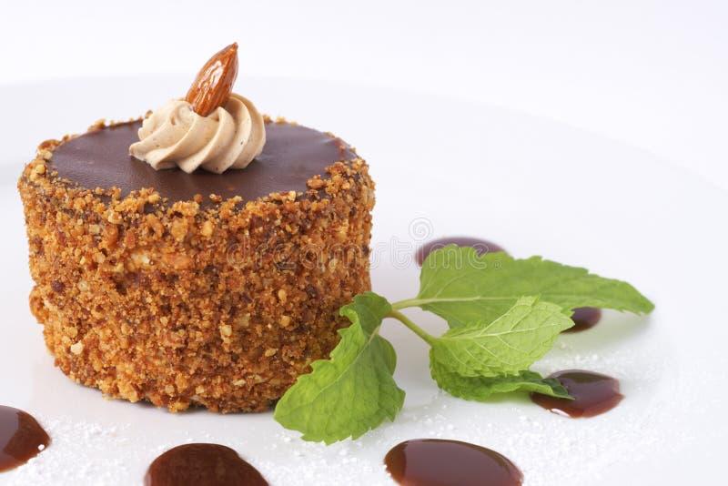 Torta di cioccolato miniatura fotografia stock