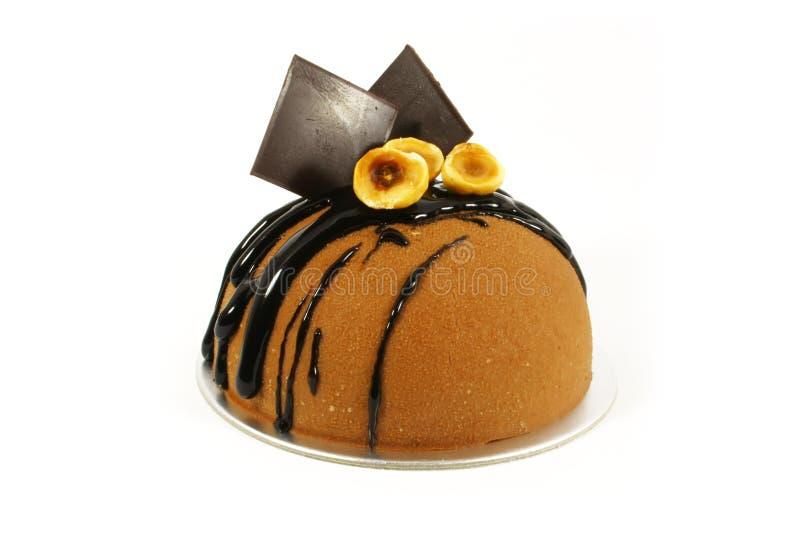 Torta di cioccolato operata fotografie stock
