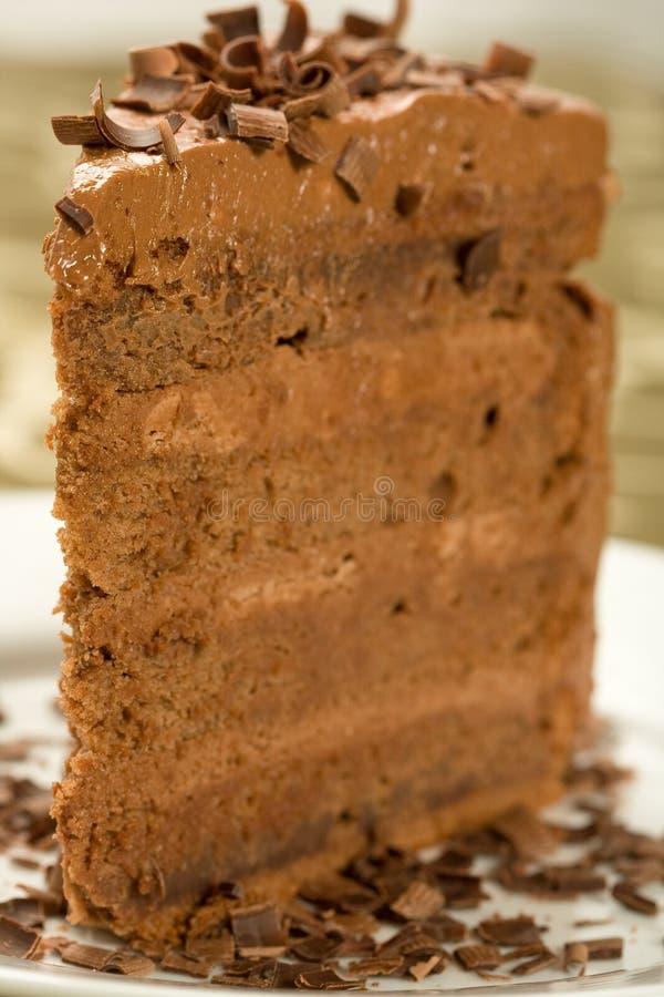 Torta di cioccolato Peerless fotografie stock libere da diritti