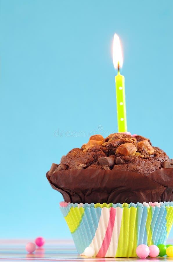 Torta di compleanno blu fotografia stock