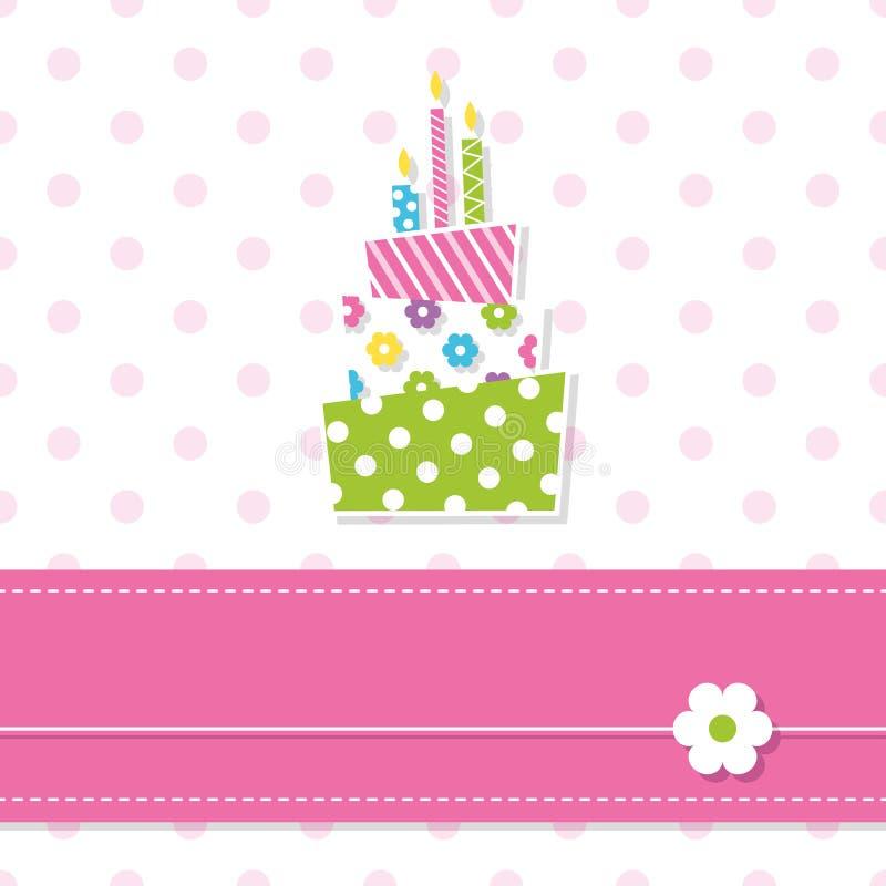 Torta di compleanno della neonata illustrazione vettoriale - Colorazione pagina della torta di compleanno ...