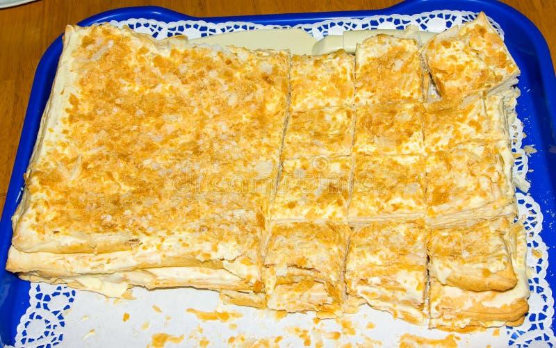Torta di compleanno di Homemmade oggetto dell'alimento della torta immagini stock
