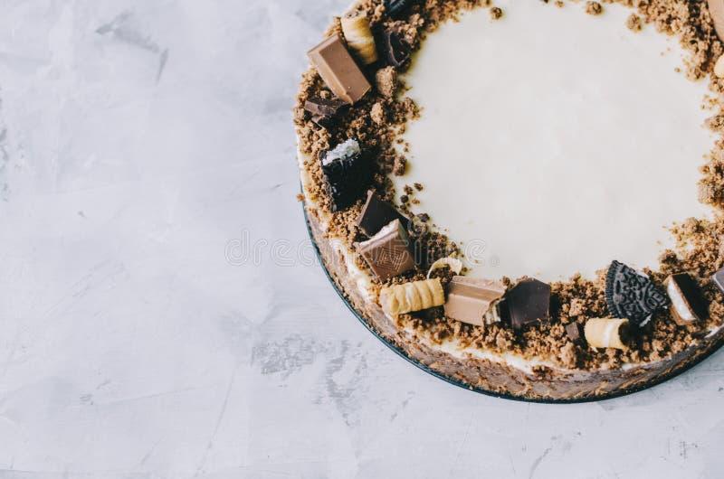 Torta di formaggio con il gourmet del cioccolato fotografia stock