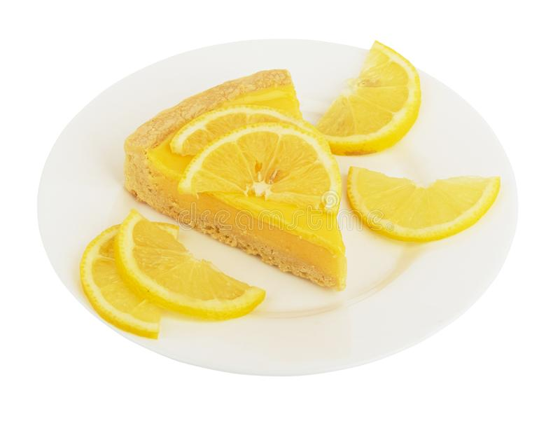 Torta di formaggio del limone immagini stock libere da diritti