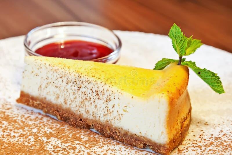 Torta di formaggio dolce immagini stock libere da diritti