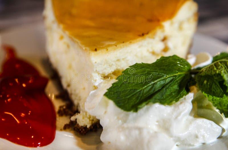 Torta di formaggio perfetta fotografia stock libera da diritti