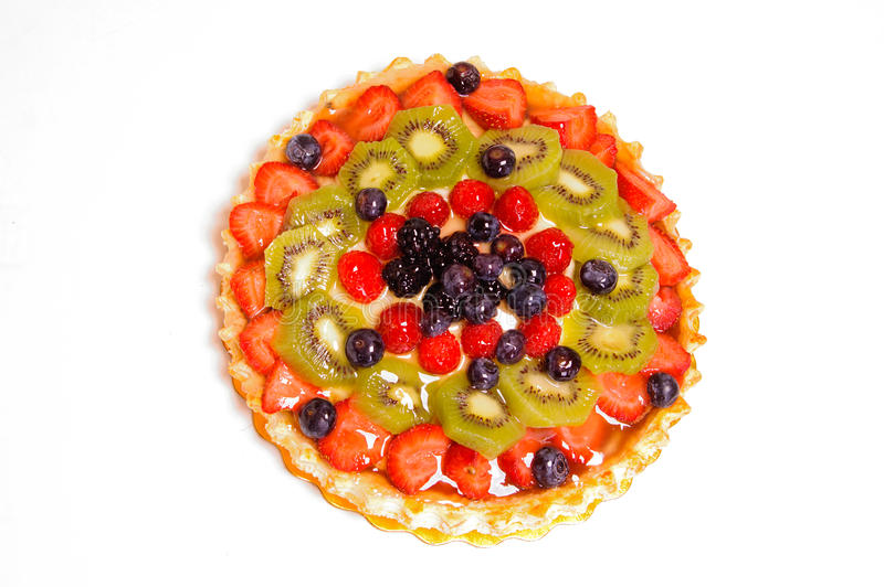 Download Torta di frutta mista immagine stock. Immagine di mirtilli - 30825719